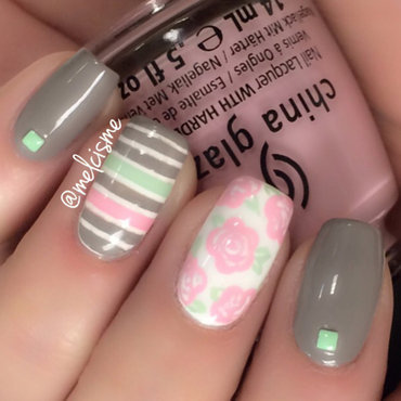 Feeling spring nail art by Melissa
