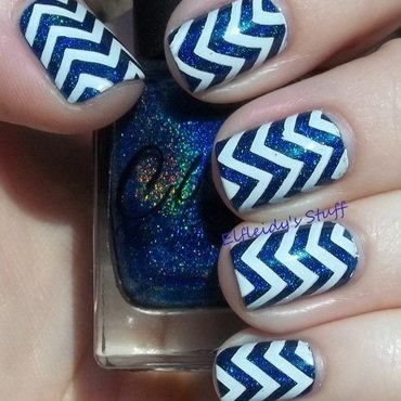 Holo chevrons nail art by Jenette Maitland-Tomblin