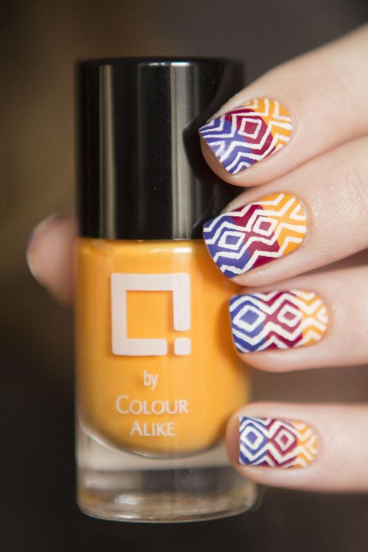 Tropical Heat nail art by Magdalena