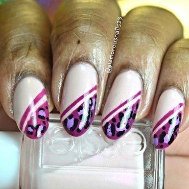 Leopard Print  nail art by glamorousnails23