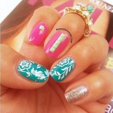All Zen nail art by Bundle Monster