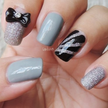 Black Tie Not Optional nail art by Iliana S.