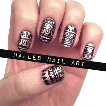 It's Greek to Me nail art by Halle Butler