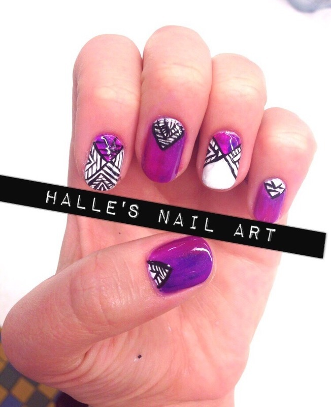 What's my line nail art by Halle Butler