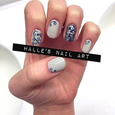 If it ain't baroque nail art by Halle Butler