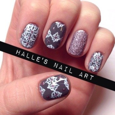 Perfect print nail art by Halle Butler