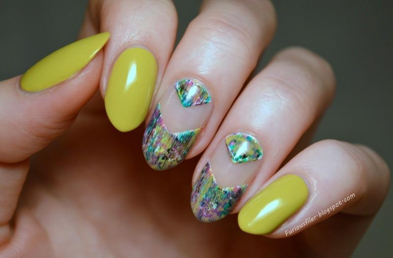 Summer blues nail art by Furious Filer