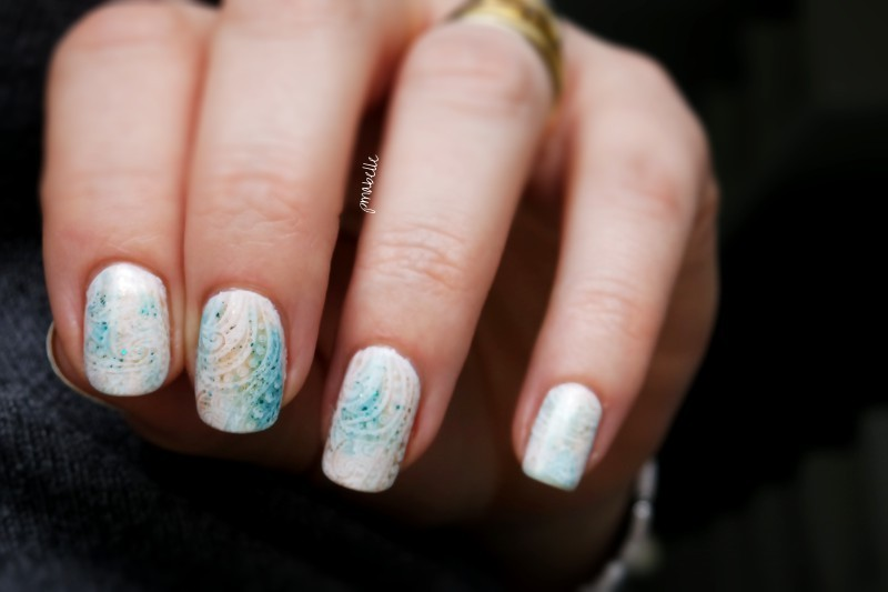 softly antique nails nail art by Pmabelle