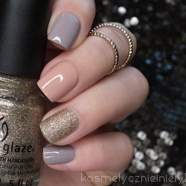 Golden Rose + China Glaze nail art by Karola