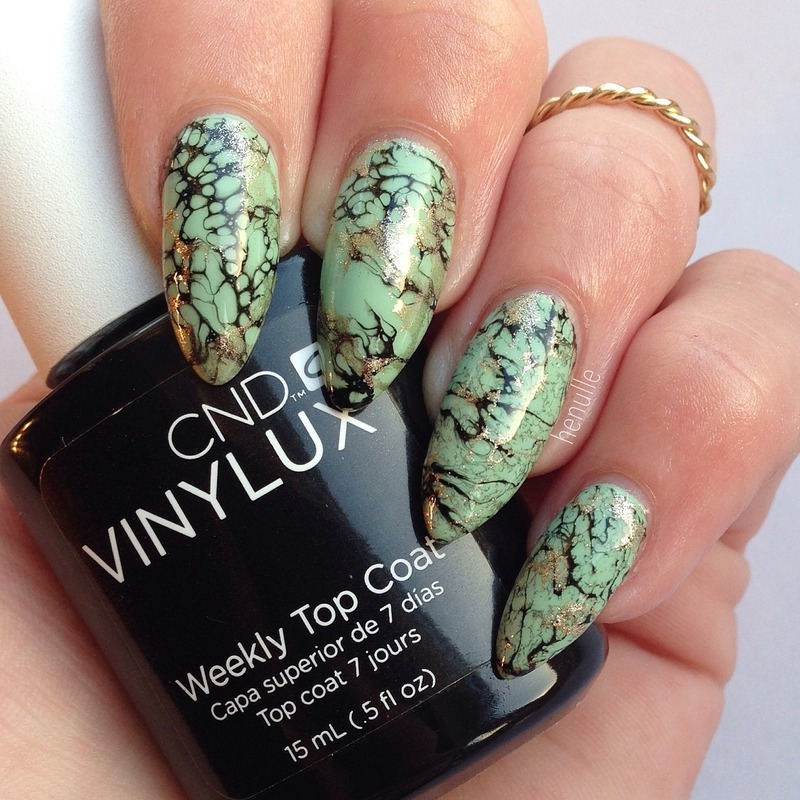 Waterspotted  nail art by Henulle
