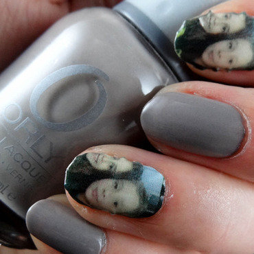My babies on my nails with Nailsnaps nail art by Virginie