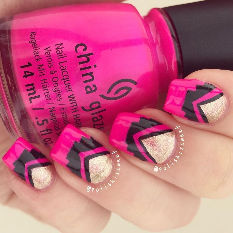 Aztec Nails! nail art by PolishIsSweet