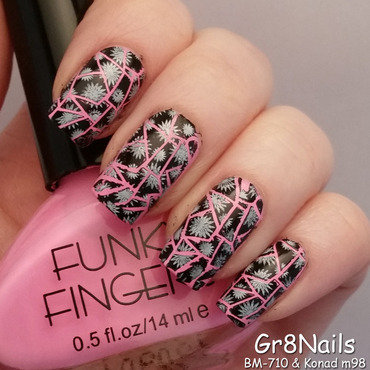shattered nail art by Gr8Nails