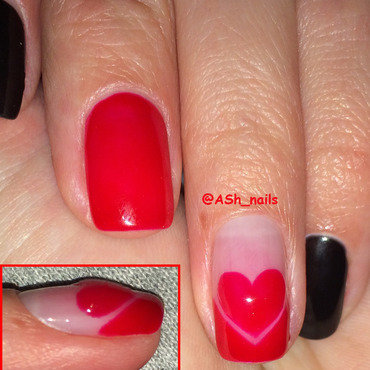 PROMINENT-HEART DESIGN nail art by Anna Sh