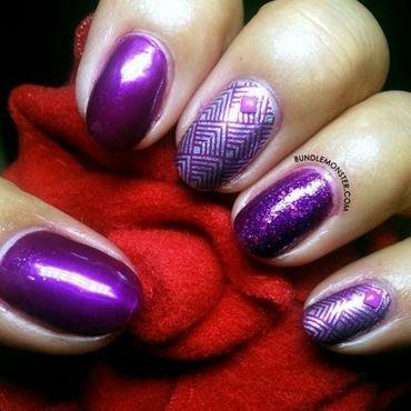 Violet Rose nail art by Bundle Monster