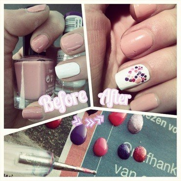 heart tutorial nail art by JonideGroot