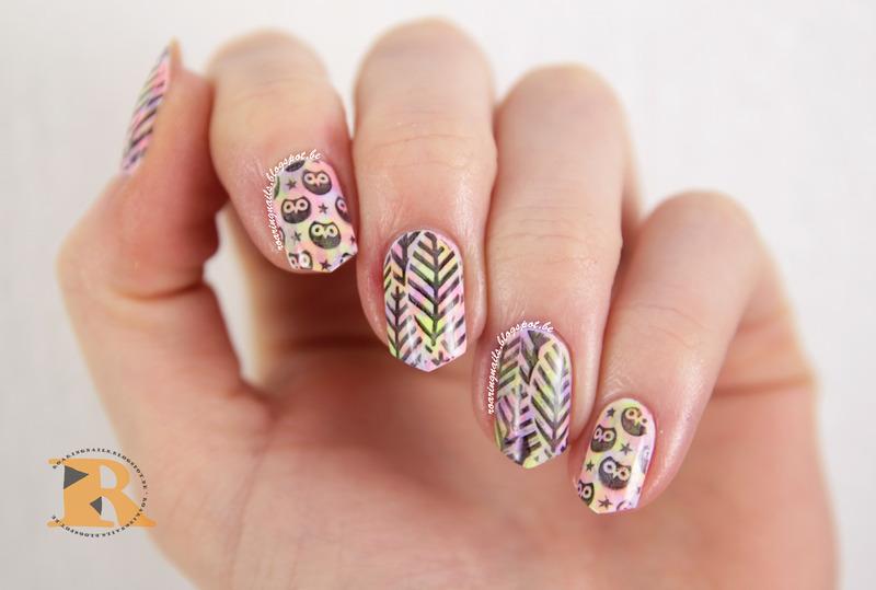 Owls! nail art by Robin