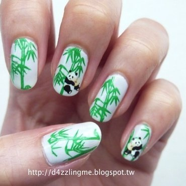 Bamboo Nails  nail art by D4zzling Me