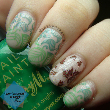 Bornprettystore stamping bp19 leafy nail art thumb370f