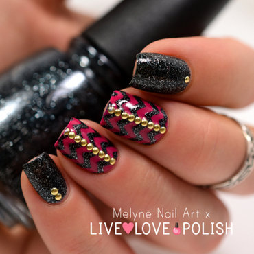 Chevrons nails and studs nail art by melyne nailart