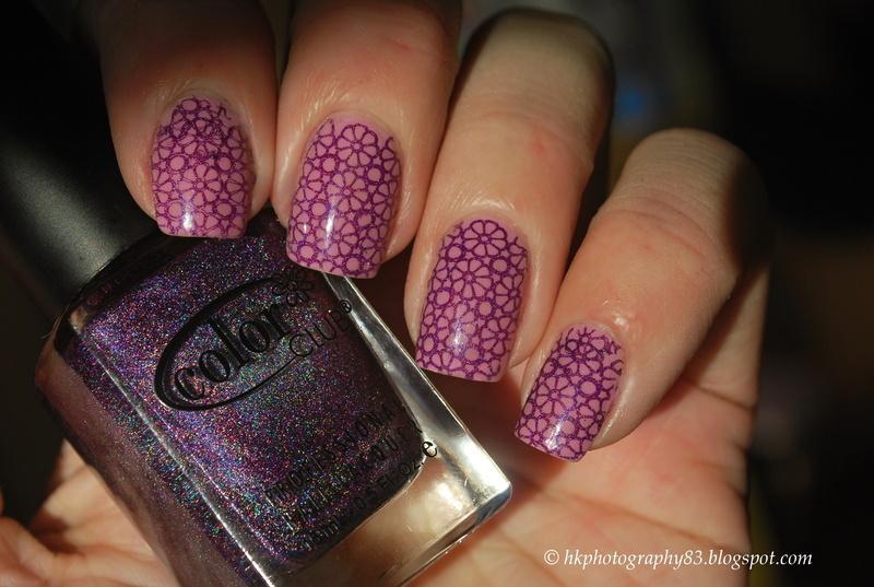 BP-20 Stamping nail art nail art by Hana K.