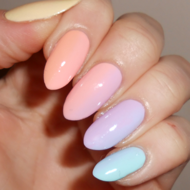 Full Pastel Gradient  nail art by MyMintNails