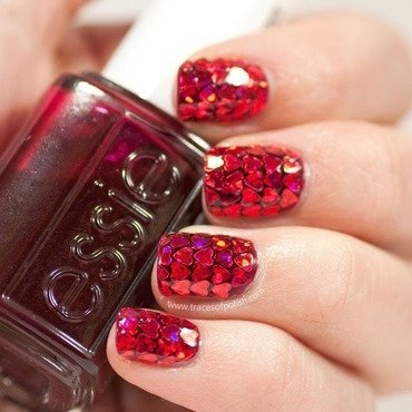 1 heart glitter nail art thumb370f