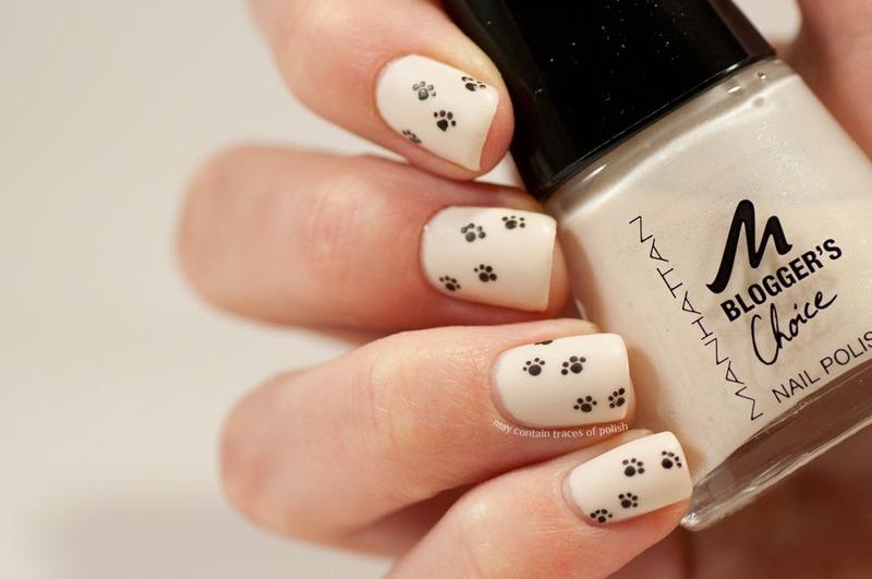 Paw print nail art nail art by Zara TracesOfPolish - Nailpolis ...