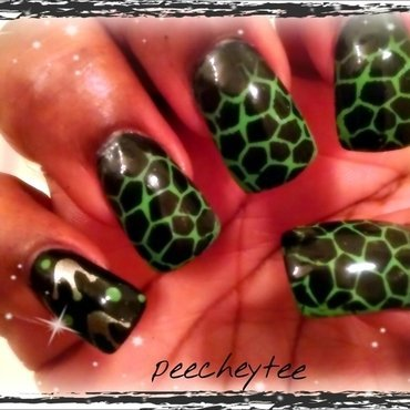 animal print nail art by peecheytee