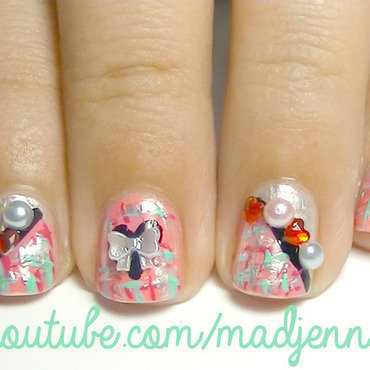 Romantic Tweed Nails nail art by madjennsy Nail Art