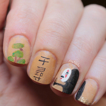 Spirited Away nail art by Fran Nails