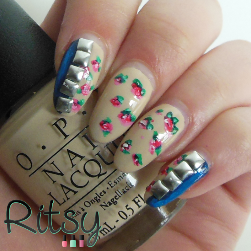 Floral nail art by Ritsy NL