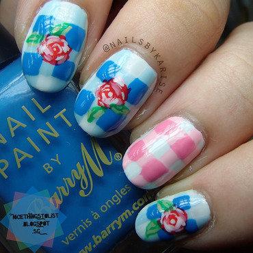 Glamnailschallenge roses nail art thumb370f