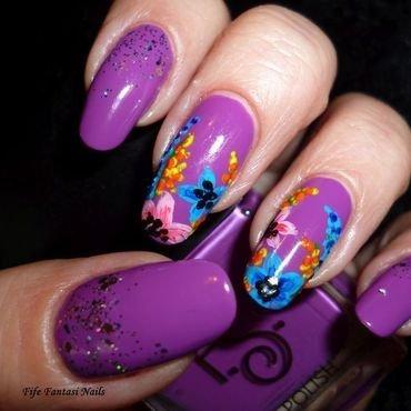 My tropical garden nail art by EDYTA