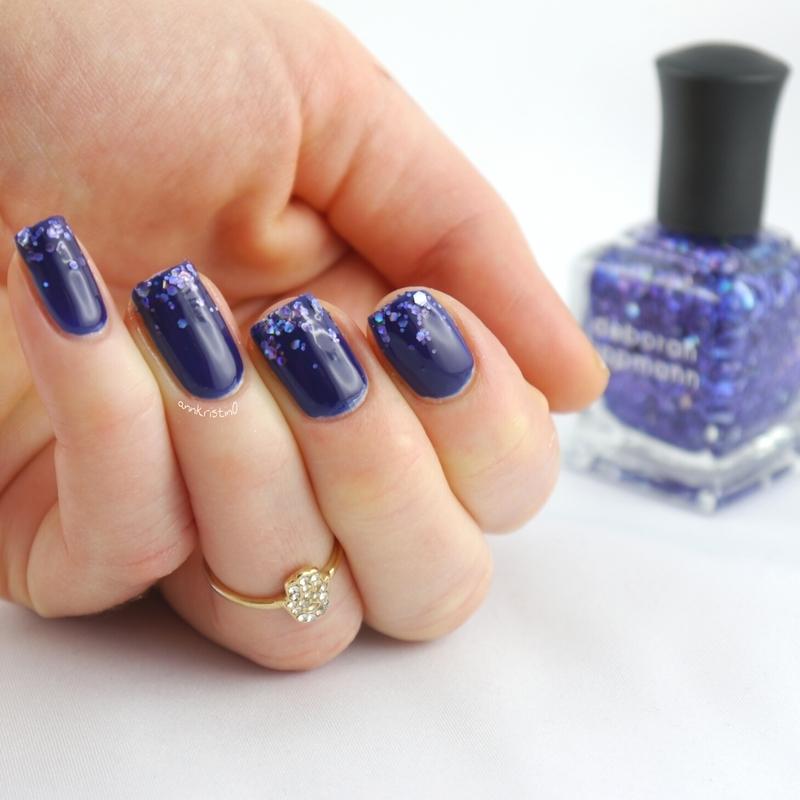 Va Va Voom Glitter Gradient nail art by Ann-Kristin