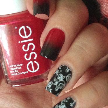 Red & Black Nails nail art by Natasha