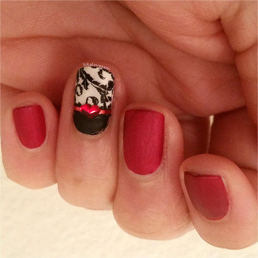 Valentine's Day nail art by kitalovessm