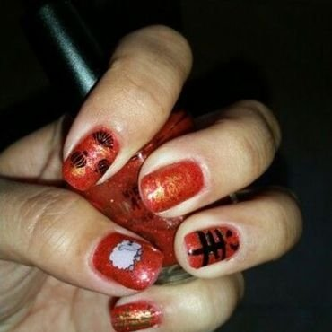 Chinese New Year 2015 nail art by HighTech