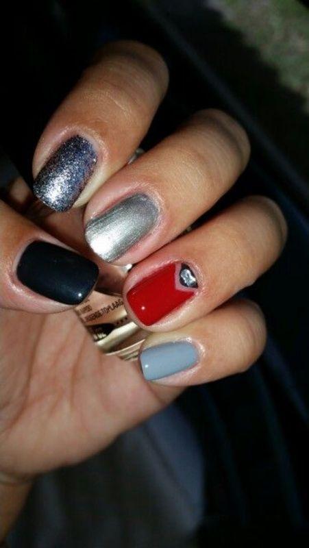 50 Shades of Grey nail art by HighTech