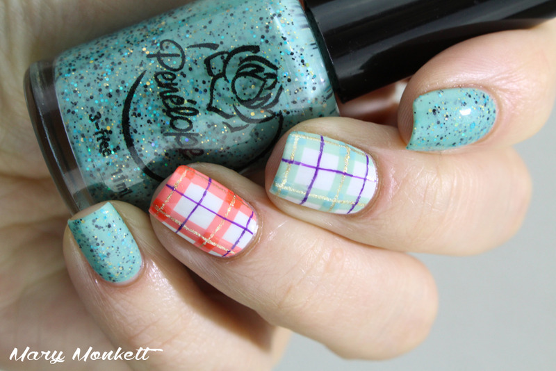 Tartan nails nail art by Mary Monkett