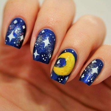 Silent night nail art by Jane