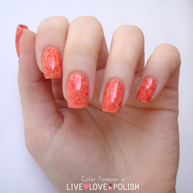coral & orange saran wrap nail art nail art by ania