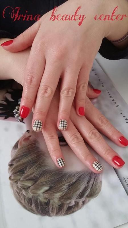 burberry red nail polish nail art by Irina