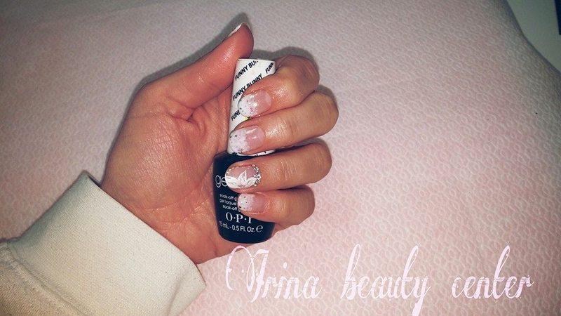 white nail art by Irina