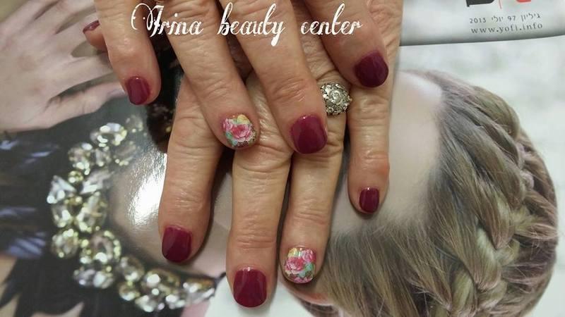 bordo nail art by Irina