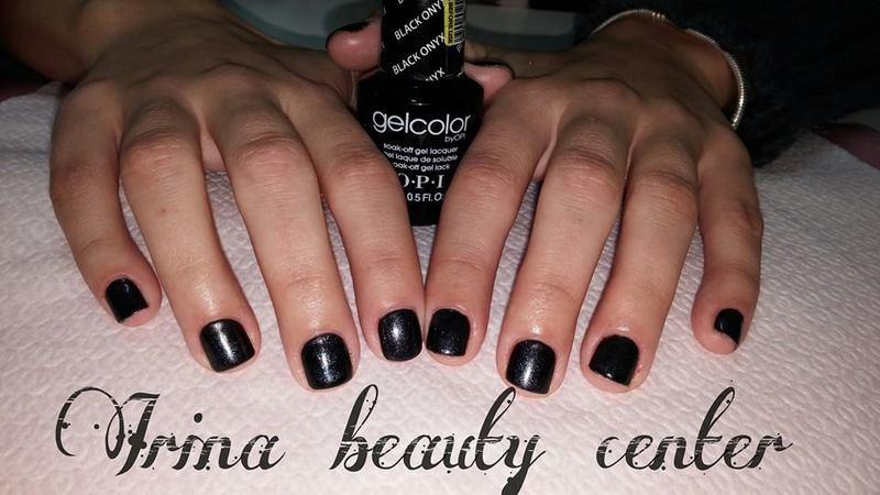 grey nails nail art by Irina