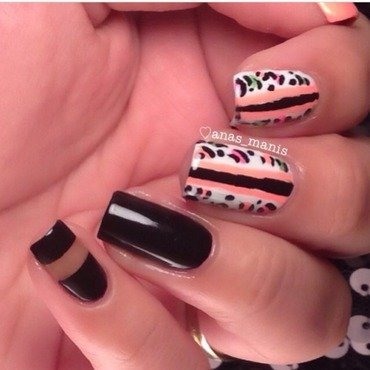 Leopard skittlette  nail art by anas_manis