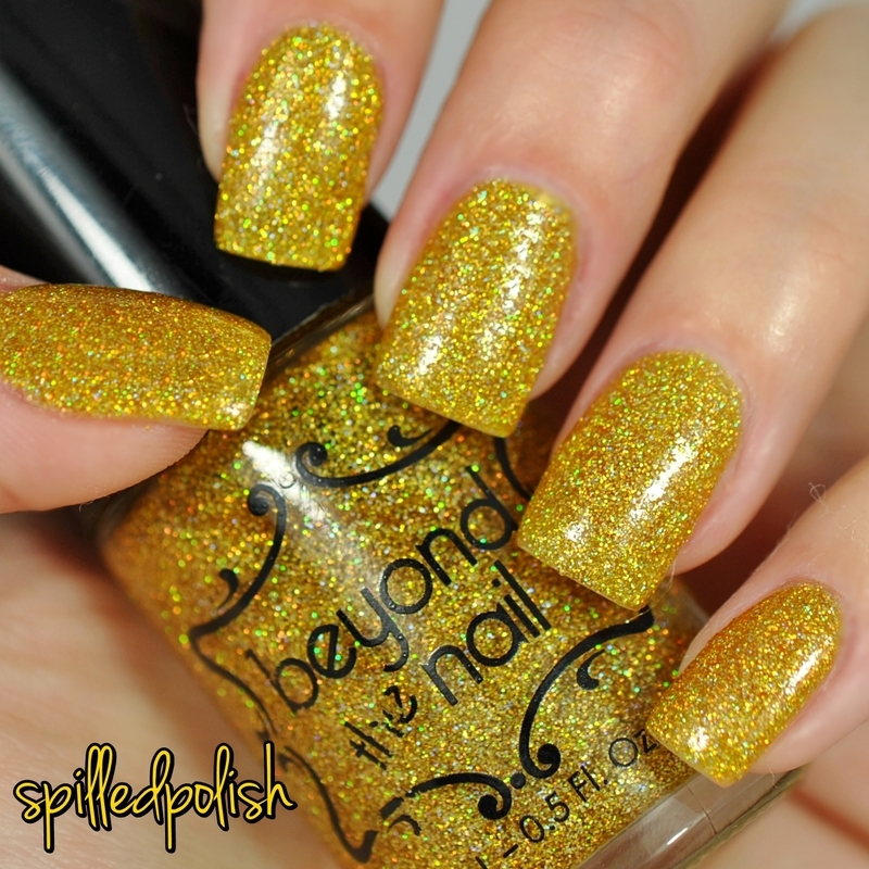 Beyond The Nail Holographic Gold Microglitter Swatch by Maddy S