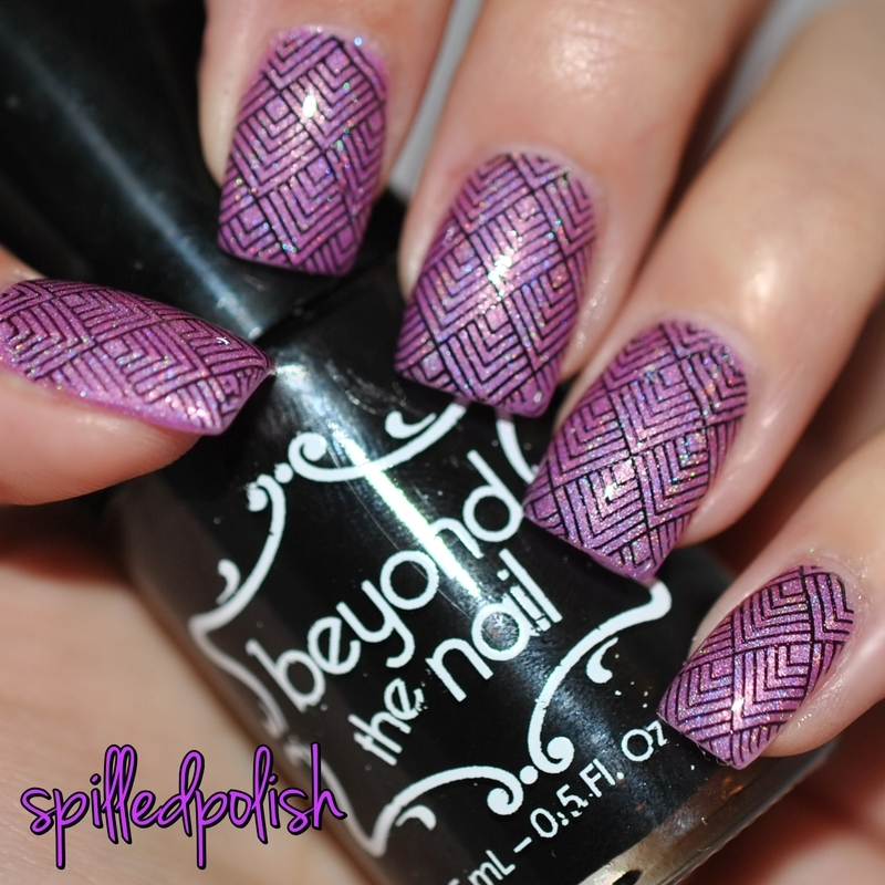 Abstract Stamping nail art by Maddy S