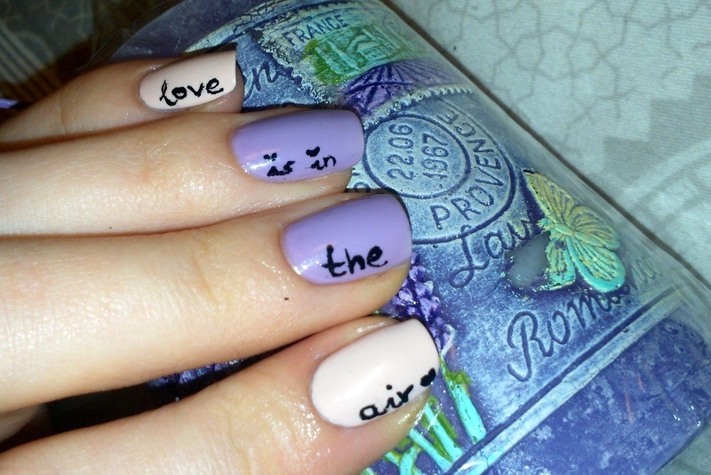Love is in the air ;) nail art by Lakierowniczka